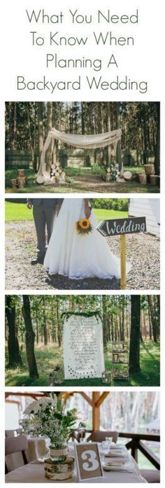 What You Need To Know About Planning A Backyard Wedding