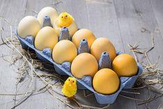 Tons jaunes plus ou moins foncés selon que les œufs sont déposés dans la décoction dès le début ou après leur cuisson.