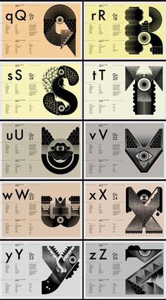 Typography // Freaks Alphabet by My Name is Wendy