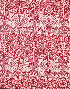 """""""Brother Rabbit"""" - Block printed cotton manufactured by Morris & Company Designed by William Morris in 1882; printed 1917–23"""