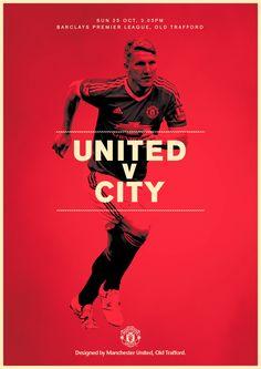 Match poster. Manchester United v Manchester City, 25 October 2015. Designed by @manutd