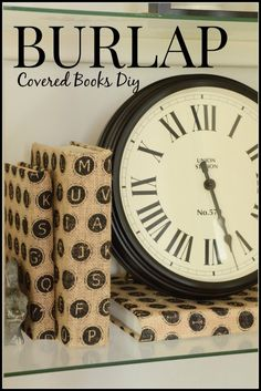 Burlap Covered Book -an easy way to permanently cover books with beautiful burlap without ruining your books! Lots of pictures and easy tutorial. stonegableblog.com
