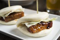 Braised pork belly Kakuni Bao from Momosan in NY