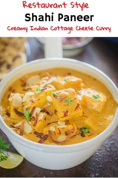 Shahi Paneer is soft, delectable pieces of paneer cooked in a rich creamy base of almond and cashew. It tastes delicious with roti or rice. Shahi Paneer Recipe, Paneer Recipes, Curry Recipes, Indian Food Recipes, Punjabi Recipes, Punjabi Food, Bengali Food, Lunch Recipes, Vegetarian Recipes