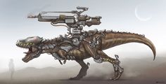 Rex, Gun, and Exo! Just suddenly want to make this prehistoric beast after watching Jurassic world trailer, so I try to combine it with a little bit of military modernity stuff. The Rex pretty cool...