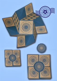 The Papercraft Post: fold and twist cards