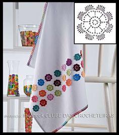 Crochet Mat, Crochet Cord, Crochet Towel, Crochet Borders, Crochet Patterns, Applique Towels, Baby Sheets, Home Textile, Embroidery