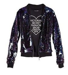 Victoria Secret Fashion Show pista Chaqueta Lentejuelas! nuevo con etiquetas! $198 stunnning