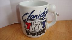CLARIDGE HOTEL AND CASINO RESTAURANT ADVERTISING COFFEE MUG WITH 777