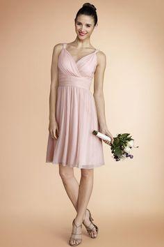 Donna Morgan bridesmaid dress in blush -pretty!