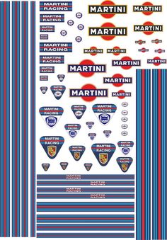 1/18 Decals Martini for GT 40