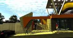 Entrada principal centro recreacional