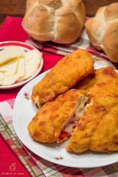Petto di pollo ripieno di peperoni e scamorza