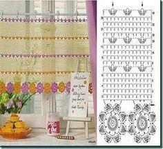 36 ideas for crochet patrones cortinas Filet Crochet, Crochet Amigurumi, Crochet Motifs, Crochet Diagram, Crochet Chart, Love Crochet, Crochet Doilies, Crochet Flowers, Crochet Lace