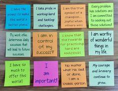 Positive Affirmations Sticky Notes for Upper Grades Motivation Wall, Student Motivation, Motivation Boards, Cycling Motivation, Fitness Motivation, Encouraging Notes For Students, 365 Jar, 365 Note Jar, Jar Of Notes