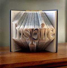 Beautiful Sculptures On Folded Book Art