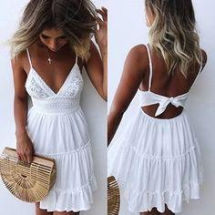 Summer Style Mini Dresses – Maizys Boutique Lace Summer Dresses, Summer Dresses For Women, Trendy Dresses, Sexy Dresses, Casual Dresses, Short Dresses, Fashion Dresses, Mini Dresses, Bow Dresses
