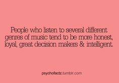 all of the above then :) people laugh at my random playlist always music genres Love Facts, Wtf Fun Facts, Dream Facts, Fun Facts About Love, Random Facts, Psycho Facts, Crush Facts, Psychology Fun Facts, The More You Know