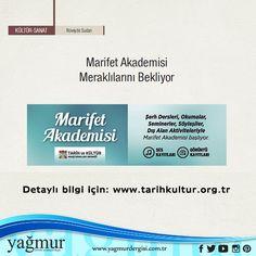 Marifet akademisi meraklılarını bekliyor... #marifet #akademi #meraklı #bekliyoruz #haydi #kültür #edebiyat #yagmurdergisi