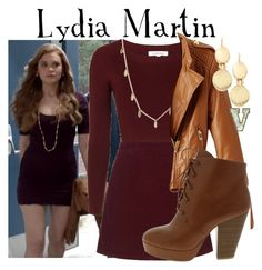 """Lydia Martin (Teen Wolf)"" by fabfandoms ❤ liked on Polyvore featuring Episode, Topshop, Vera Bradley, WithChic and Monet"