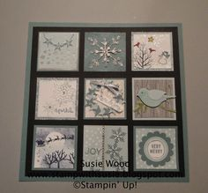 """I had a team meeting- my Christmas Get-to-Gather- at our home last weekend. Together we made 2 1/4 x 2 1/4"""" squares. Check them all out..."""