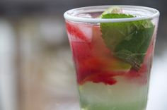 see you in the morning: raspberry mint limeade