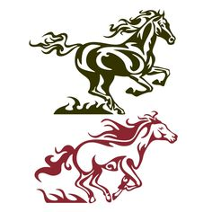 Running Horse Cuttable Design Horse Silhouette, Silhouette Cameo, Cut Animals, Laser Art, Running Horses, Scan And Cut, Cutting Tables, Monogram Frame, Vector Art