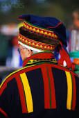 lapland man in traditional headwear, it's sort of nice and a bit like a kokoshnik if you look quickly