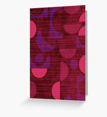 Pink and Purple Moons Greeting Card