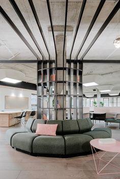 Yves Behar Opens CANOPY Jackson Square Workspace Design, Office Interior Design, Office Interiors, Office Designs, Corporate Interiors, Design Interiors, Modern Home Office Furniture, Modern Office Decor, Office Ideas