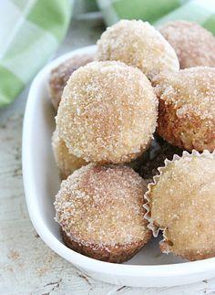 Mini Cinnamon Sugar Applesauce Muffins