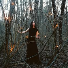 Kay going through the forest after she got out of the lake and is letting out magic on accident and everything she toughest is set on fire