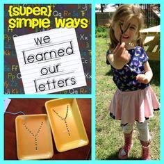 Easy ideas to teach letters