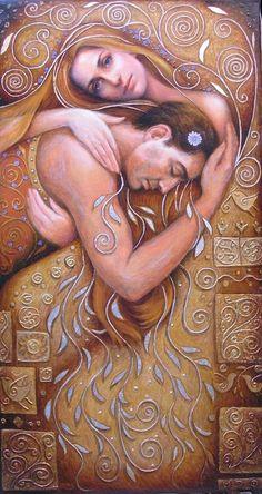 Irina Karkabi - Moonlight (1999) 100x55 cm