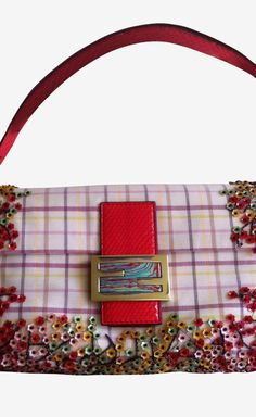 Fendi White Pink Red Shoulder Bag. Judy Pherigo 2a6c12dc9c833