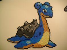 Pokemon Lapras (Updated) by ~RetroNinNin on deviantART perler bead design