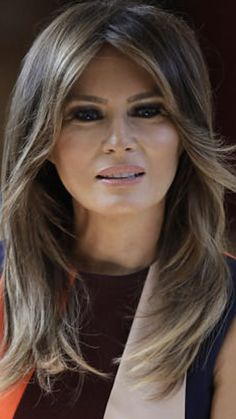FLOTUS MELANIA TRUMP Milania Trump Hair, Milania Trump Style, Donald And Melania Trump, First Lady Melania Trump, Donald Trump, Melania Knauss Trump, Malania Trump, Trump Is My President, Hair Color Balayage