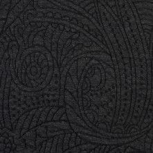 Heather Black/Charcoal Dimensional Paisley Knit