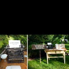 Typewriter to write the bride and groom a message.