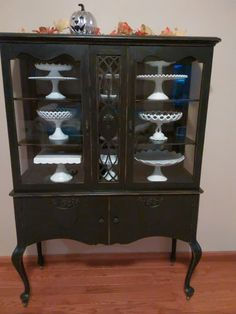 My black cabinet for my milk glass