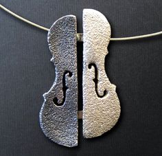 Violin / Cello / Viola shape handmade Necklace by SONSDARGENT