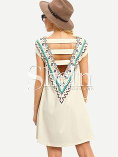 Shop Multicolor Print Sleeveless Hollow Back Dress online. SheIn offers Multicolor Print Sleeveless Hollow Back Dress & more to fit your fashionable needs.