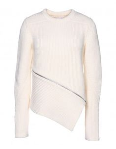 Alexander Wang Ivory Asymmetrical Sweater - Get prepared for fall's best knits at ShopBazaar.com http://shop.harpersbazaar.com/clothing/knitwear