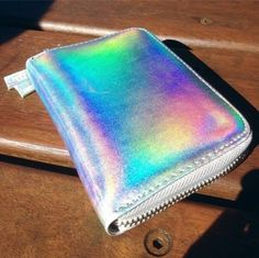 There is 1 tip to buy bag, holographic purse, holographic wallet. Holographic Purse, Holographic Fashion, Holographic Makeup, Young And Rich, Buy Bags, Luxury Bags, Purse Wallet, Zip Wallet, Girly Things