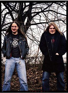 "Darkthrone during ""Sardonic Wrath"" recording session outside Oslo, year 2005."