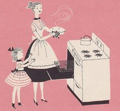 pink pie baking…reminds me so much of loving to bake with my mother! Look Vintage, Vintage Ads, Vintage Images, Vintage Apron, Retro Images, Vintage Magazines, Vintage Beauty, Pretty In Pink, Pink Pie