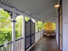 Considering a lattice door for the entry verandah. I love them Adam will probably say too Queenslanderish. Veranda Railing, Front Stairs, Front Entry, Front Porch, Porch Gate, Queenslander House, Front Verandah, Outdoor Spaces, Outdoor Decor