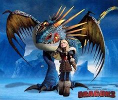 Stormfly is Astrid/Camicazi's pet Dragon. She first appeared in A Hero's Guide to Deadly Dragons and since has appeared in every following novel. In the film adaptation, rather, she is a Deadly Nadder and her rider is Astrid. In the film, a Deadly Nadder is shown to be kept locked up for Dragon Training. Later in the movie, while battling the Red Death, Astrid has chosen the same Deadly Nadder to ride and join the fight. At the end of the film, we see Astrid riding on the Nadder, along…