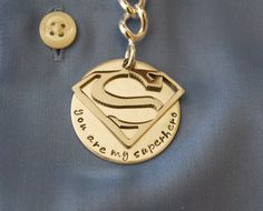 Custom Superman Keychain-A True Luxury Item for Men-Great Gift for Dads, Grads or Yourself
