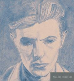 """Pencil drawing """"Thinwhiteduke1976"""" out of my David Bowie tribute """"Another Space Oddity"""""""